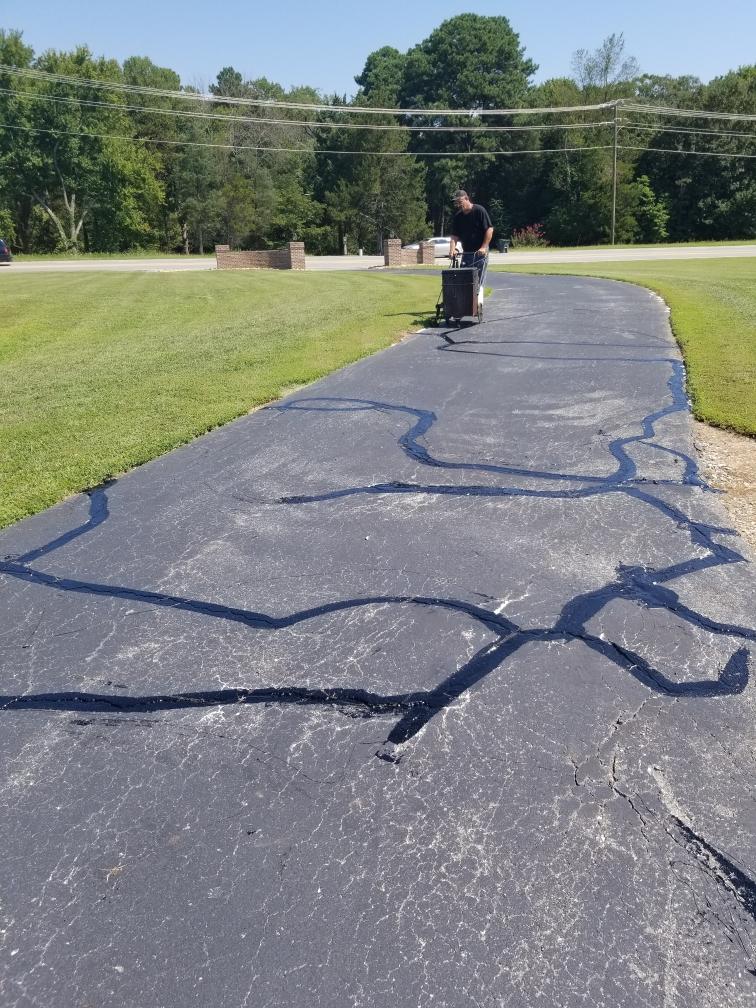 asphalt crack filling repair danville va