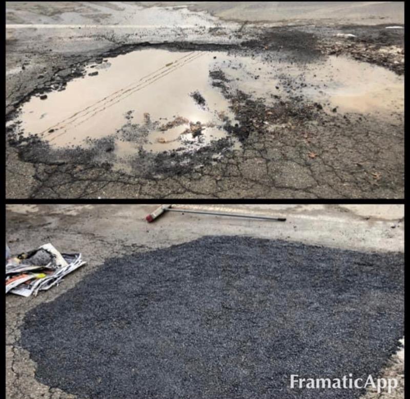 before after asphalt repair danville va