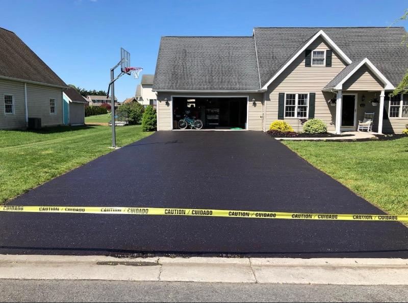 new residential asphalt driveway paving danville va